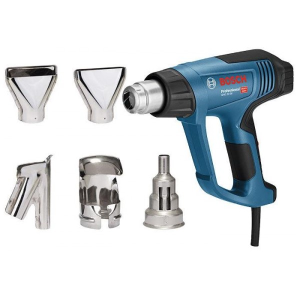 BOSCH HEAT GUNS GHG 23-66 KIT PROFESSIONAL - 5-TEILGES ACCESSORIES BLUE - BLACK, 2,300 WATTS