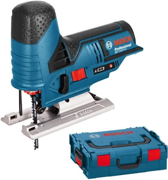 BOSCH CORDLESS JIGSAW GST 12V 70 SOLO PROFESSIONAL, 12 VOLTS BLUE, L-BOXX, WITHOUT BATTERY AND CHARGER