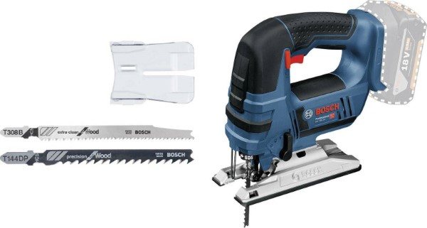 BOSCH CORDLESS JIGSAW GST 18V-LI B PROFESSIONAL SOLO, 18 VOLTS BLUE - BLACK, WITHOUT BATTERY AND CHARGER