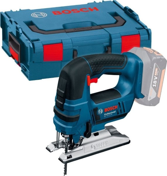BOSCH CORDLESS JIGSAW GST 18 V-LI B BLUE, L-BOXX 136 WITHOUT BATTERY AND CHARGER
