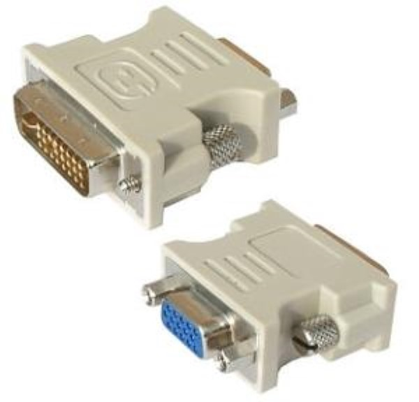 CABLEXPERT ADAPTER DVI-I MALE TO VGA 15PIN HD 3WAYS FEMALE