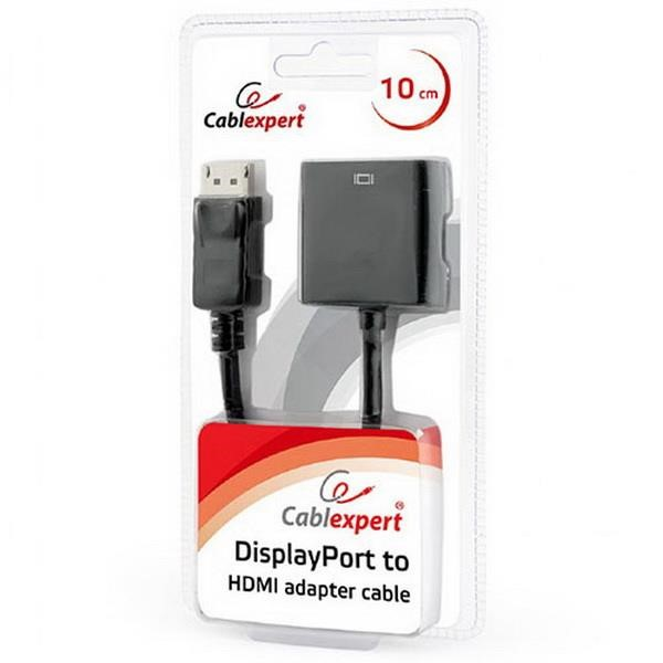 CABLEXPERT DISPLAYPORT TO HDMI ADAPTER CABLE BLACK BLISTER