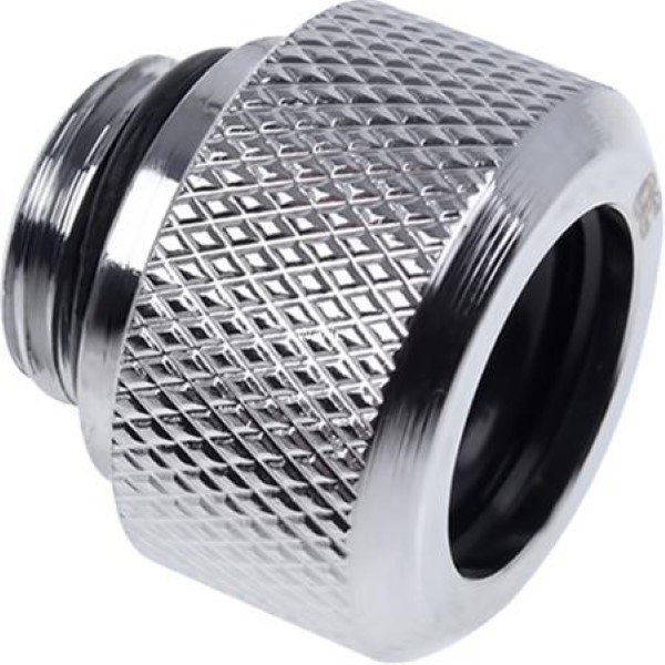 ALPHACOOL ICICLES HARDTUBE COMPRESSION FITTING, CHROME STRAIGHT CONNECTIONS