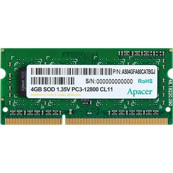 APACER SO-DIMM 4 GB DDR3-1600, MEMORY 4 GB CL11 1 PIECE AS04GFA60CATBGJ
