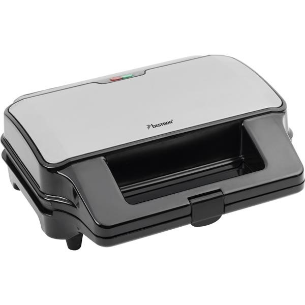 Bestron ASG90XXL Contact grill 3-in-1 black silver, stainless steel