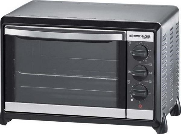 Rommelsbacher small oven with convection BG 1055  E, mini-oven silver  black, retail