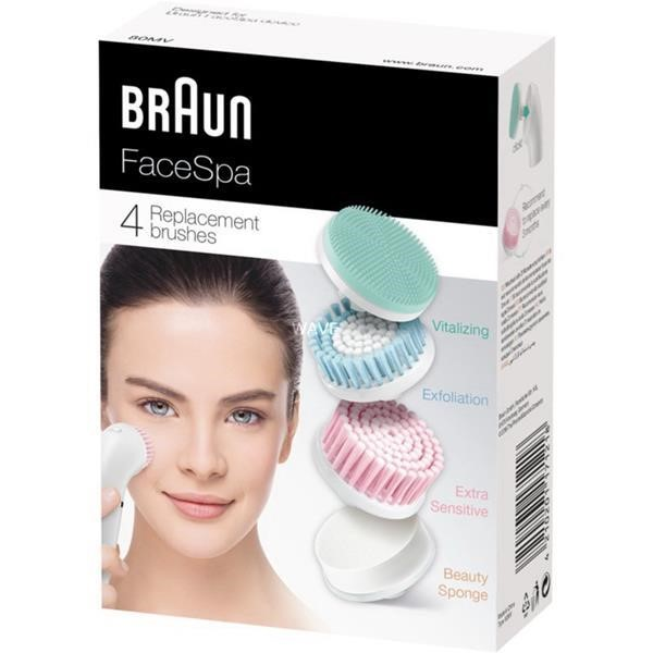 BRAUN FACESPA 80MV TOWER SET 4 REPLACEMENT BRUSHES
