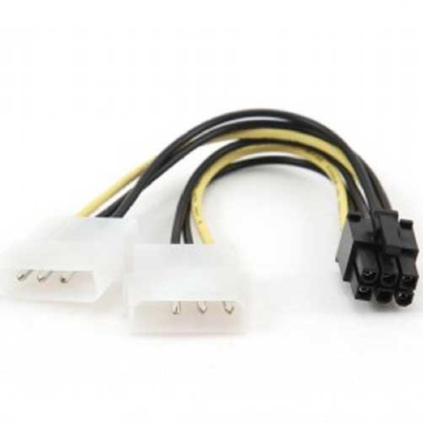 CABLEXPERT INTERNAL POWER ADAPTER CABLE FOR PCI EXPRESS, 6PIN TO MOLEX X 2 PCS