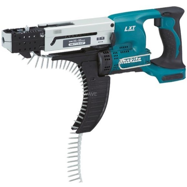 MAKITA CORDLESS AUTOMATIC SCREWDRIVER DFR550Z, 18 VOLT BLACK - BLUE, WITHOUT BATTERY AND CHARGER