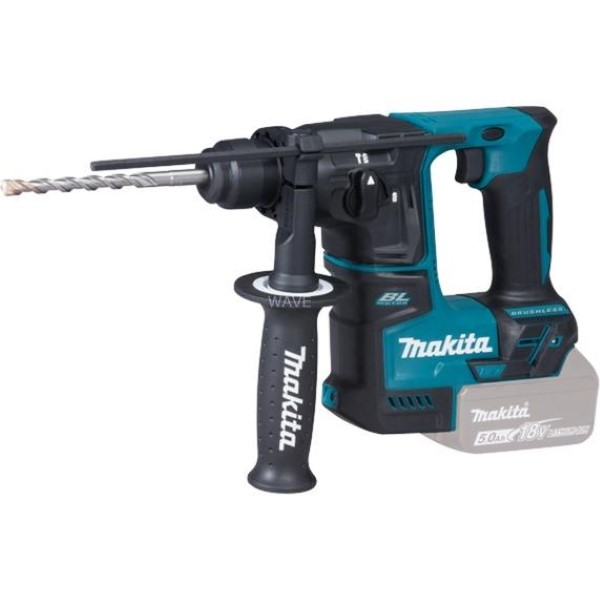 MAKITA CORDLESS HAMMER DRILL DHR171Z, 18 VOLT BLUE - BLACK, WITHOUT BATTERY AND CHARGER