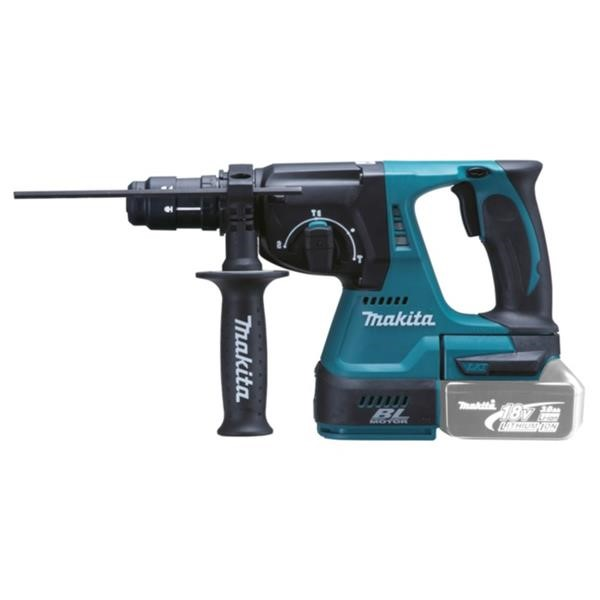 MAKITA CORDLESS HAMMER DHR243Z, 18 VOLT, DRILL BLUE - BLACK, WITHOUT BATTERY AND CHARGER
