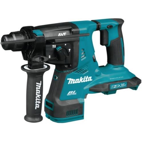 MAKITA CORDLESS HAMMER DHR280ZJ SDS-PLUS, 2X 18VOLT, DRILL BLUE - BLACK, WITHOUT BATTERY AND CHARGER