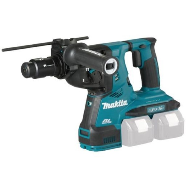 MAKITA CORDLESS HAMMER DHR281ZJ SDS-PLUS, 2X18VOLT, DRILL BLUE - BLACK, WITHOUT BATTERY AND CHARGER