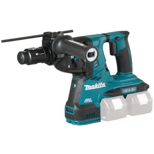 MAKITA CORDLESS HAMMER DHR283ZJU SDS-PLUS, 2X18VOLT, DRILL BLUE - BLACK, WITHOUT BATTERY AND CHARGER