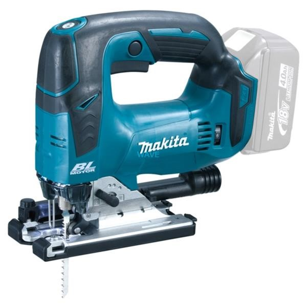 MAKITA CORDLESS PENDULUM STICKSÄGE DJV182Z, 18 VOLT, JIGSAW BLUE - BLACK, WITHOUT BATTERY AND CHARGER