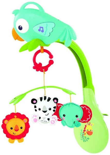 FISHER PRICE - RAINFOREST 3-IN-1 MUSICAL MOBILE (CHR11)