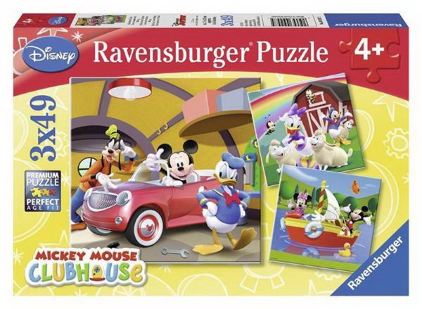 RAVENSBURGER PUZZLE - WD DISNEY MICKEY MOUSE CLUBHOUSE:EVERYBODY LOVES MICKEY (3X49PCS.) (09247)