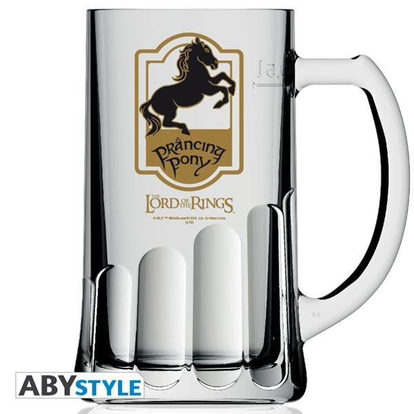 "LORD OF THE RING - ""PRANCING PONY"" BEER GLASS (0.5L) (ABYVER024)"