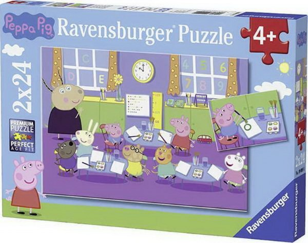 RAVENSBURGER PUZZLE PEPPA THE PING (2X24PCS.) (09099)