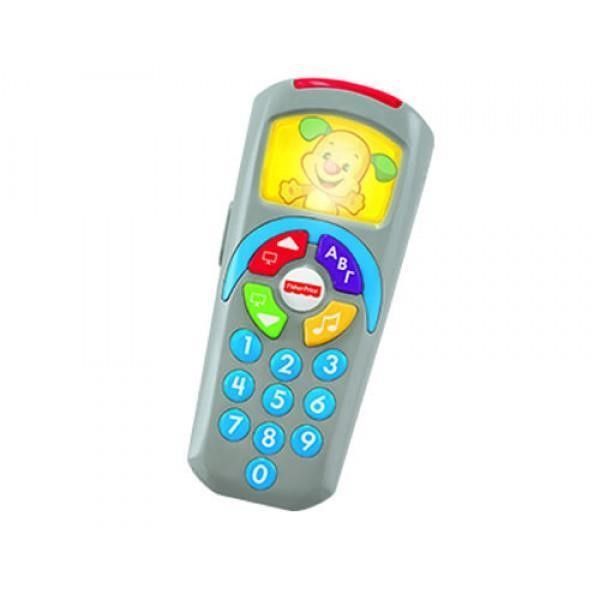 FISHER PRICE LAUGH & LEARN CLICK 'N LEARN REMOTE CONTROL - BLUE (IN GREEK) (DLK58)