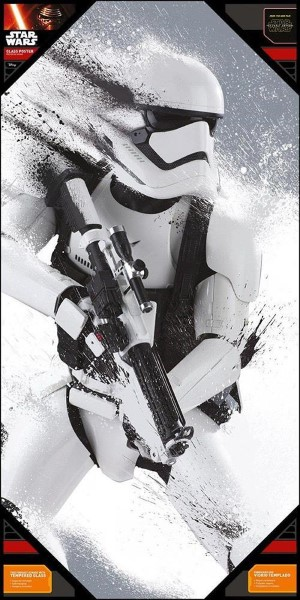 STAR WARS - EPISODE 7 SNOW STORMTROOPER GLASS POSTER (30cm x 60cm) (SDTSDT89833)