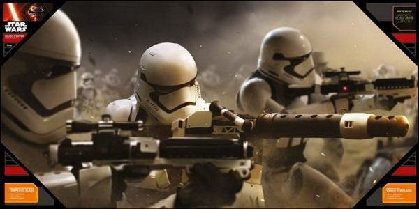 STAR WARS - EPISODE 7 BATTLE STORMTROOPERS GLASS POSTER (60cm x 30cm) (SDTSDT89834)