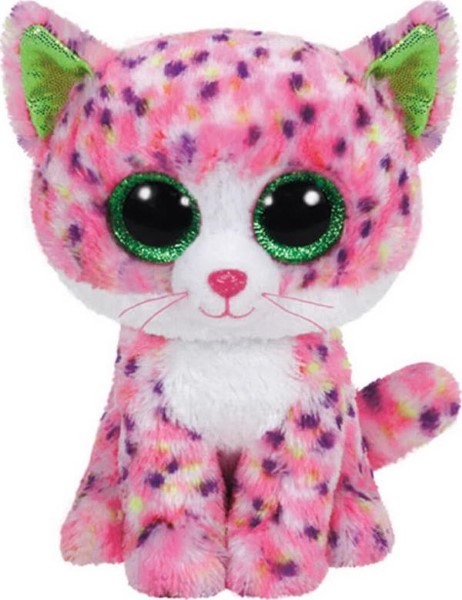 TY BEANIE BOOS - SOPHIE THE PINK CAT PLUSH TOY (23CM) (1607-37054)