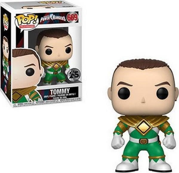 Funko POP! Television: Power Rangers - Tommy Green Ranger (No Helmet) #669 Vinyl Figure