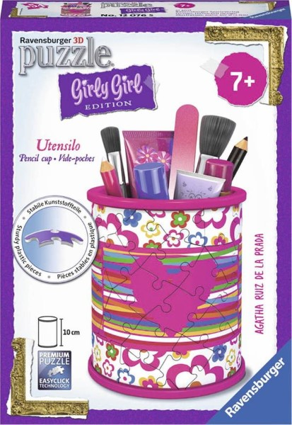 RAVENSBURGER - 3D PUZZLE 54 PCS PENCIL CUP AGATHA PRADA - GIRLY GIRL EDITION (80181)