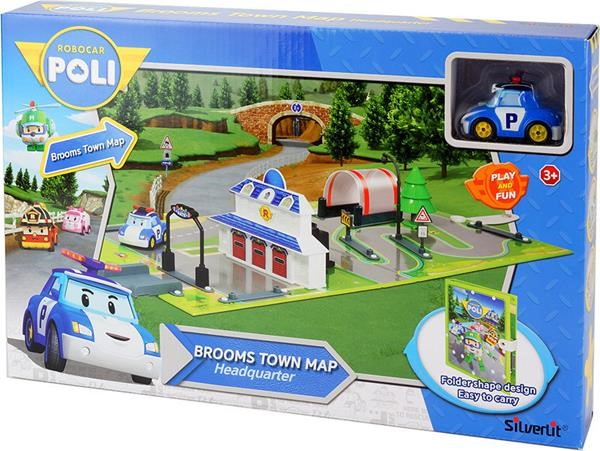 AS SILVERLIT ROBOCAR POLI - BROOMS TOWN MAP - HEADQUARTER (1003-83280)