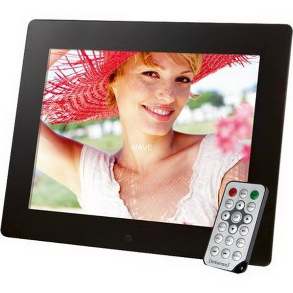 INTENSO DIGITAL MEDIA GALLERY PICTURE FRAME PICTURE FRAME | FORMAT: MPEG1 / 4, AVI, MP3, WMA, JPG, BMP 24.6 CM DISPLAY | INTEGRATED SPEAKER 4-IN-1 CARD SLOT (SD, SDHC, MMC, XD, MS) BLACK