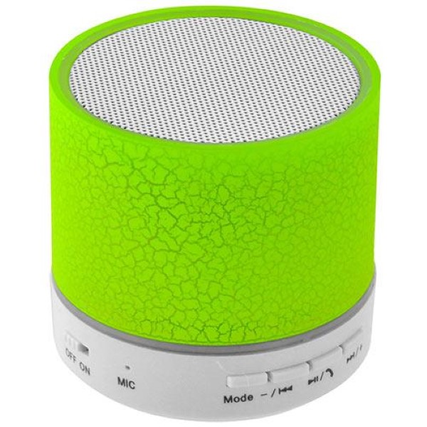 LAMTECH BLUETOOTH SPEAKER LED LIGHT WITH FM GREEN