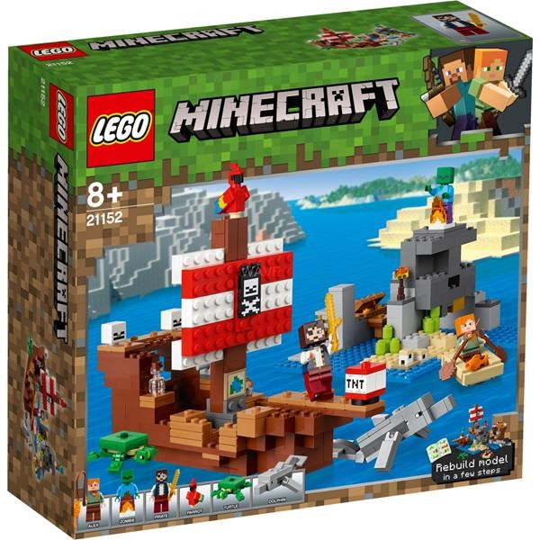 LEGO MINECRAFT 21152 THE PIRATE SHIP ADVENTURE, CONSTRUCTION TOYS