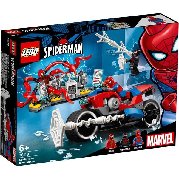 LEGO 76113 SPIDER-MAN MOTORCYCLE RESCUE, CONSTRUCTION TOYS
