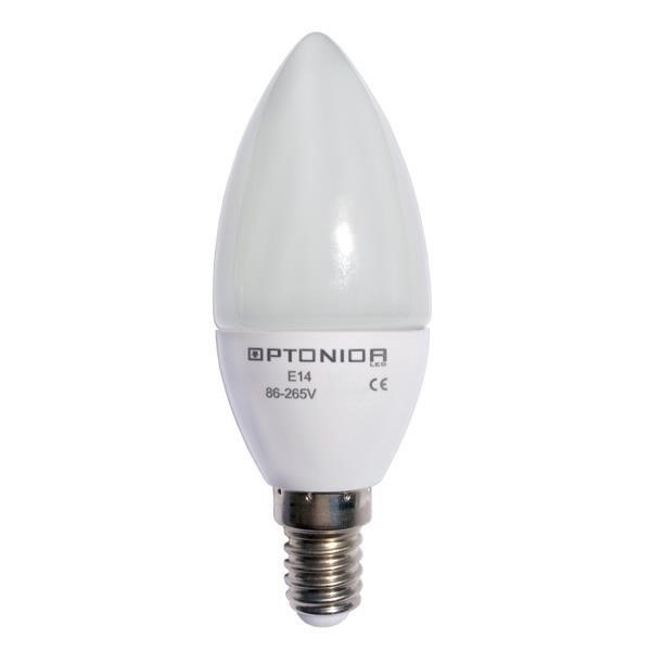 OPTONICA LED CANDLE LIGHT E14 4W AC85-265V NEUTRAL WHITE