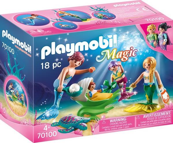 Playmobil 70100 Magic Family with Shell Pram