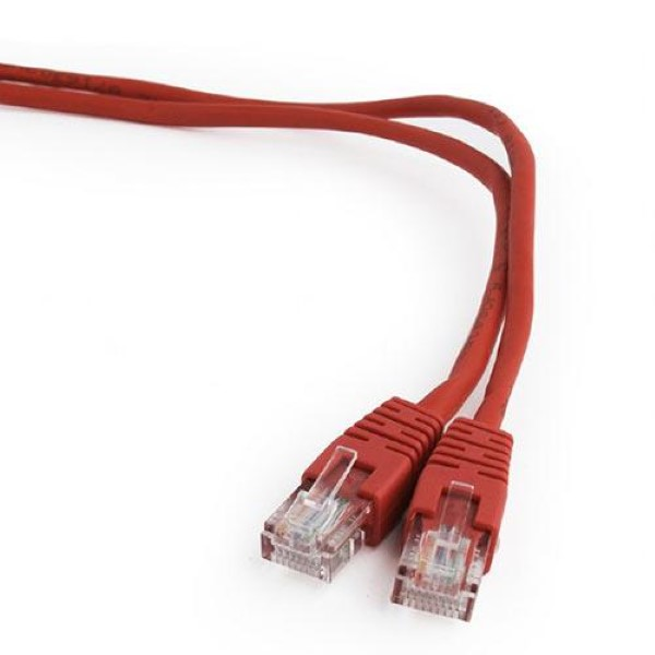 CABLEXPERT CAT5E UTP PATCH CORD 0.5M RED