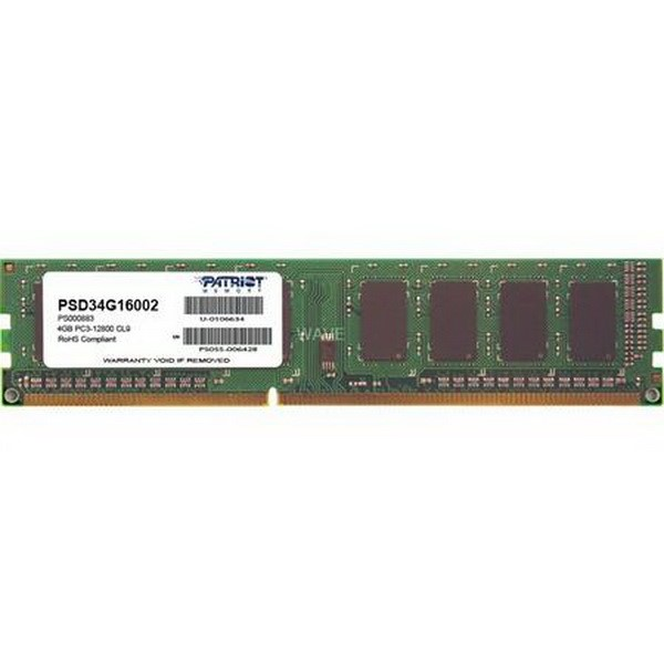 PATRIOT DIMM 4 GB DDR3-1600, MEMORY 4 GB CL11 11-11-28 1 PIECE PSD34G16002, SIGNATURE-LINE PSD34G16002