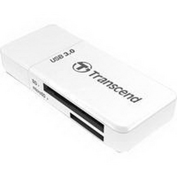 TRANSCEND MEMORY CARD READER TS RDF5W, CARD READER WHITE, USB 3.0