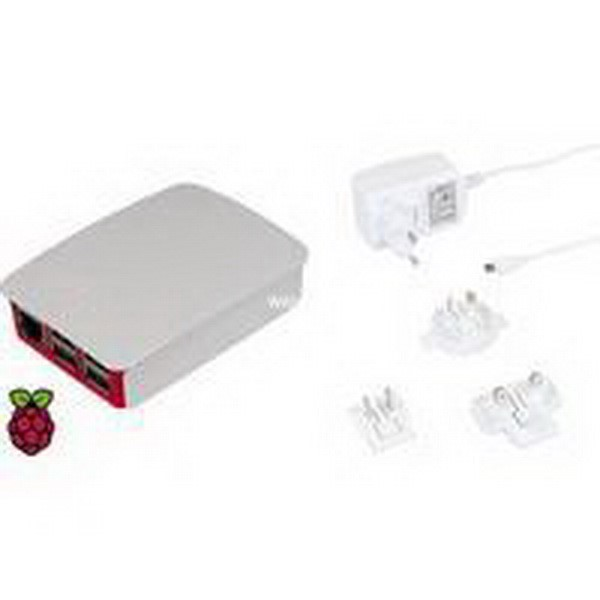 RASPBERRY PI FOUNDATION PC CASE OFFICIAL RASPBERRY HOUSING & ADAPTER BUNDLE WHITE