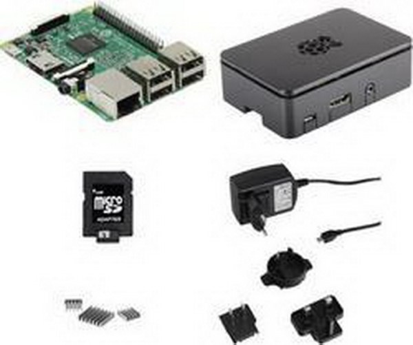 RASPBERRY PI FOUNDATION PC SYSTEM RASPBERRY PI 3 STARTER KIT SET1, PC SYSTEM BLACK